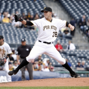 Starting pitcher Paul Maholm of the Pittsburgh Pirates