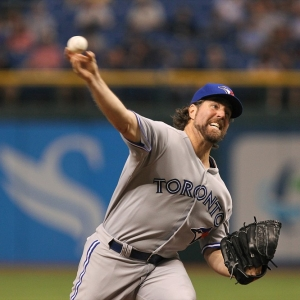 Blue Jays starting pitcher R. A. Dickey