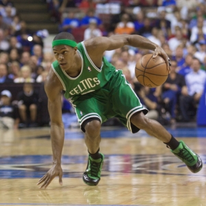 Boston Celtics guard Rajon Rondo.