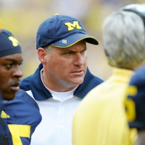 Head coach Rich Rodriguez of the University of Michigan