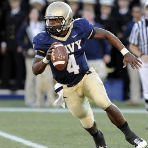 Navy Midshipmen quarterback Ricky Dobbs
