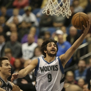 The Minnesota Timberwolves' Ricky Rubio