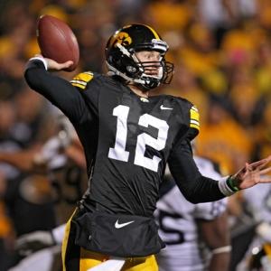 Iowa Hawkeyes quarterback Ricky Stanzi