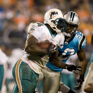 Miami Dolphins running back Ricky Williams