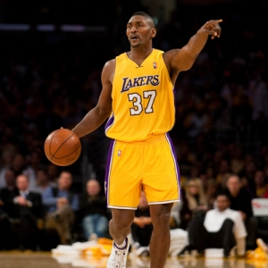 Forward Ron Artest of the Los Angeles Lakers