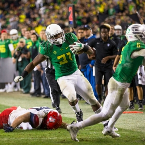 Oregon Ducks running back Royce Freeman
