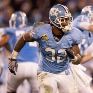 North Carolina Tar Heel running back Ryan Houston