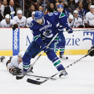 Ryan Kesler of the Vancouver Canucks