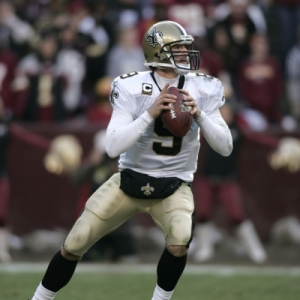 Saints quarterback Drew Brees.