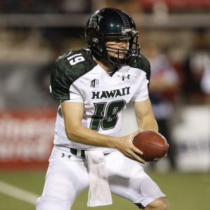 Hawaii quarterback Sean Schroeder