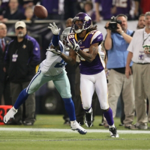 Minnesota Vikings wide receiver Sidney Rice.