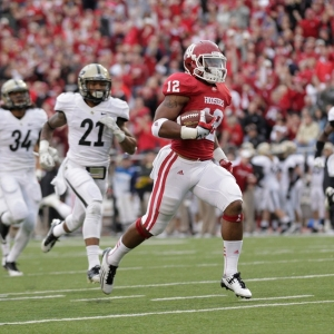 Indiana Hoosiers running back Stephen Houston