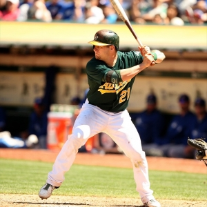 Oakland Athletics catcher Stephen Vogt