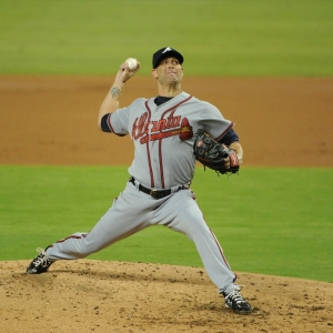 Atlanta Braves starting pitcher Tim Hudson