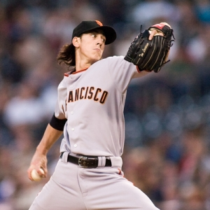 Tim Lincecum, pitcher for the San Francisco Giants.