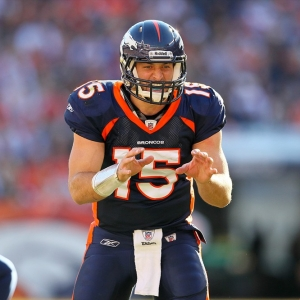Denver Broncos quarterback Tim Tebow