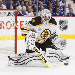 Boston Bruins goalie goalie Tim Thomas