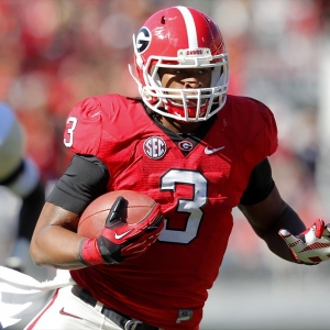 Georgia Bulldogs running back Todd Gurley