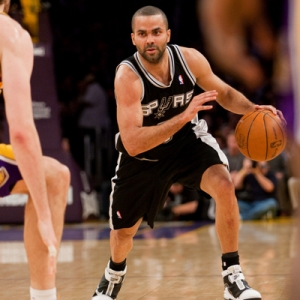 Guard Tony Parker of the San Antonio Spurs