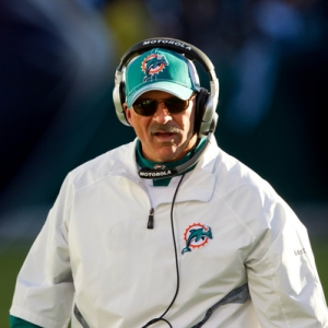 Head coach Tony Sparano of the Miami Dolphins