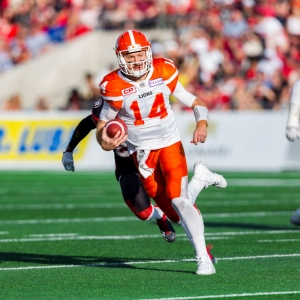 BC Lions quarterback Travis Lulay