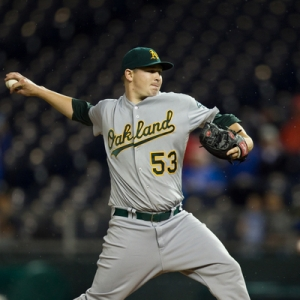 Oakland Athletics starting pitcher Trevor Cahill