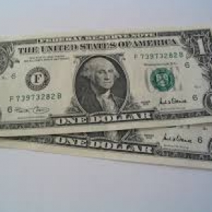 two one dollar bills