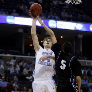 North Carolina University forward Tyler Zeller.