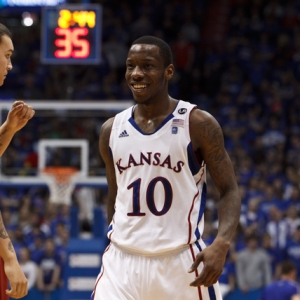 Kansas Jayhawks guard Tyshawn Taylor