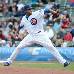 Chicago Cubs pitcher Edwin Jackson