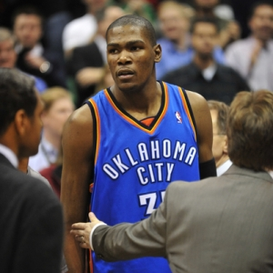 Oklahoma City Thunder guard Kevin Durant