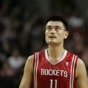 Yao Ming, center for the Houston Rockets.