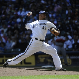 Brewers Pitcher Yovani Gallardo.