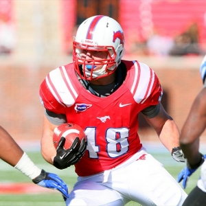 Southern Methodist Mustangs running back Zach Line