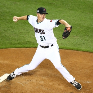 Arizona Diamondbacks pitcher Zack Greinke