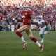 San Francisco 49ers' starting quarterback Colin Kaepernick