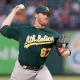 Oakland Athletics Starting pitcher Dan Straily