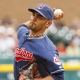 Cleveland Indians starting right-hand pitcher Danny Salazar