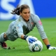 Goalkeeper Hope Solo of team USA