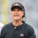 San Francisco 49ers head coach Jim Harbaugh