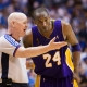 Joe Crawford, NBA referee with Kobe Bryant.