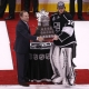 Los Angeles Kings goaltender #32 Jonathan Quick