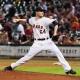 Houston Astros starting pitcher Lucas Harrell