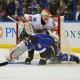 Calgary Flames' goalie Reto Berra