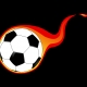 flaming soccer ball.
